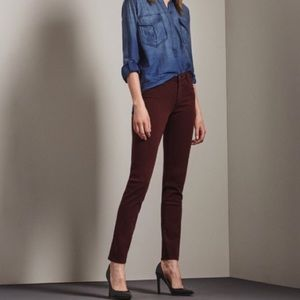 AG Adriano Goldschmied Maroon Ankle Skinny Jeans